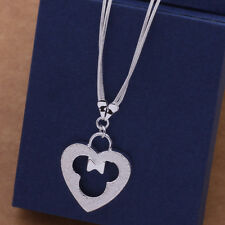 AN507 Free shipping Lovely Minnie Mouse Style solid silver Necklace + gift bag