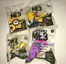 New Sealed Illumination Despicable Me 3 No. 7-8-10-12 Happy Meal Mcd Toy (4 Pcs)