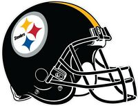 Pittsburgh Steelers Helmet NFL Vinyl Decal / Sticker Sizes Free Shipping