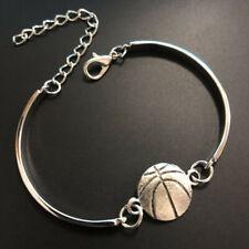 hand made fine silver basketball Cuff Bangle Bracelet Jewelry Hallowmas,Bangle