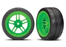 "Traxxas 4-Tec 2.0 1.9"" Response X-Tra Wide Rear Pre-Assembled Tires (Green) (2)"