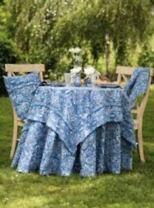 """April Cornell 54"""" X 54"""" Blue Priscilla's Paisley Table Cloth"""