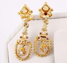 Victorian 14k Diamond Dangle Earrings 3.3 Grams