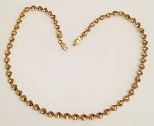 collier vintage top qualité couleur or rodié torsadé diamanté brillance 3663
