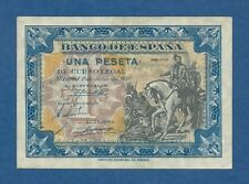 ESPAÑA // SPAIN -- 1 PESETA JUNIO ( 1940 ) -- aUNC -- SIN SERIE // NO SERIAL .