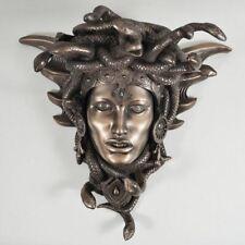Medusa Guardian Head Wall Plaque Sculpture Bronze Effect Gift Decor Ornament