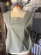 corsage Alizee coton vert kaki ; t 40 .(/LI)
