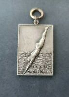 Vintage 1937 G.R. Press Senior Girls Diving Medal Award Charm Grand Rapids MI