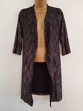 NEW Debenhams 8-22 Gold Sparkly Glitter Striped Longline Black Blazer Kimono