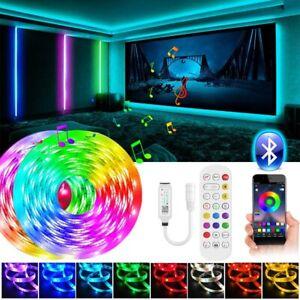 65Ft 50Ft 5M10m LED Strip Lights 5050 Music Sync Bluetooth Remote Room Light Kit