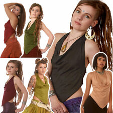 Backless Cowl Neck Top, Psy Trance Clothing, Sexy Rave Top, Tribal Hippy Goa Top