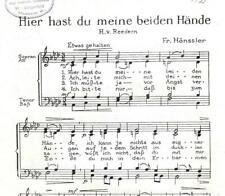 Notenblätter für Chor * Hier hast du meine beiden Hände * Jesus kommt! * SATB