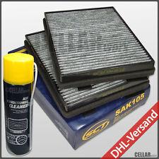 Satz Innenraumfilter Pollenfilter Aktivkohle BMW 5er E39 + Klimaanlagenreiniger
