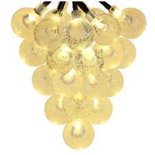 Solar Outdoor String Lights 20ft 30 LED Warm White Crystal Ball Solar Power C8P2