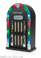Intempo Brown Mini Bluetooth Jukebox Wireless LED Lights Party Music Portable