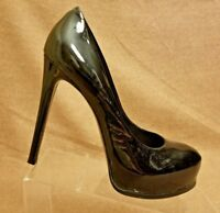 Kelsi Dagger Women Black Patent Leather Pumps Stiletto High Heel Shoes Size 9