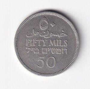 Palästina 50 Mils 1935 Silber nsw-leipzig