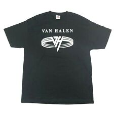 Vintage Van Halen Rocker Spell Out Symbol B 00004000 lack Band Tee T Shirt Mens Xl