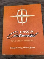 Original 1966 Ford Lincoln Continental Shop Service Manual