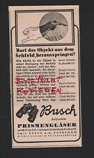 RATHENOW, Werbung 1939, Emil Busch AG Optische Industrie Busch Prismengläser