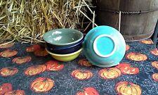 Set 4 SALSA FRUIT ICE CREAM BOWL turquoise lemongrass + FIESTA WARE new 9oz
