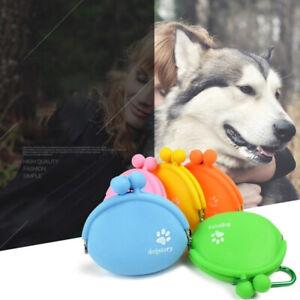 Outdoor Pet Dog Food Treat Snacks Bag Silicone  Dog Training Food Storage Poc`hw