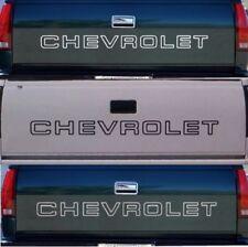 1 CHEVROLET Tailgate Truck Lettering 1500 Silverado Sticker Vinyl Decal B W SLVR