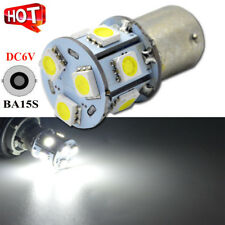 2x 9 LED 6V 1156 ba15s 382 5050 White Car Bulb Stop/Turn/Reverse/Tail Light Lamp