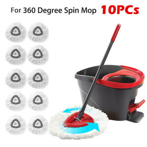 10 PCS Cleaning Mop Head Refill for O-Cedar Microfiber Spin Mop Head