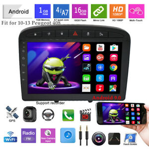For 10-13 Peugeot 408 Android 9.0 GPS 9''Touch Screen MP5 FM Bluetooth Player