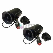 2 X Electric Horn Black With Switch Hooter Siren Handlebar Mount Bike Cycle
