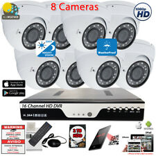16 Channel Dvr with 8 pcs 1080p Outdoor Home Cctv Security Camera System Kit
