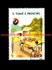 125 ANIVERSARIO CRUZ - Tomé e Principe Sao Tome et Principe Moto Timbre Stempel