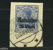 Rumänien 25 Bani Germania 1918 gute Farbe Michel 11 c geprüft (S9502)