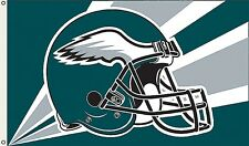 Philadelphia Eagles  Huge 3'x5' NFL Licensed Helmut Flag / Banner -Free Shipping