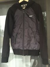 Diesel 55 DSL 5 Seasons All-Weather Hood Black Jacket Men Size L