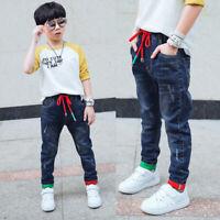 DIIMUU Children Boys Pants Clothes Clothing Kids Boy Denim Long Trousers Jeans