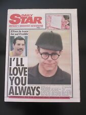 QUEEN  :  FREDDIE MERCURY ' DAILY STAR ' UK NEWSPAPER 28TH NOVEMBER 1991