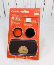 Canon filter set FS-34U 34mm Video Camera Camcorder Protect Prevent Overexposure