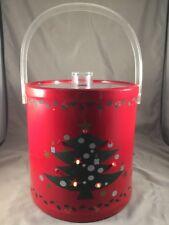 Christmas Tree Ice Bucket Holly Stars Lit Lighted Lights Waechtersbach Style Vtg