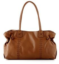 $750.00 NWT Carlos Falchi Tan Brown Doctors Tote Bag Purse NEW