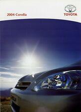 Toyota Corolla 2004 UK Market Launch Foldout Sales Brochure T2 T3 TSpirit TSport