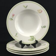 Set of 4 Rimmed Soup Bowls Villeroy & Boch Florea 1748 House & Garden Collection