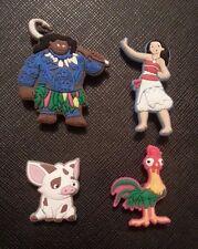 4 X Disney Moana Croc Shoe Charms Maui Pua Heihei Crocs Jibbitz Charm Wristbands