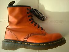 DOC DR MARTENS ORANGE BOOT MADE IN ENGLAND RARE VINTAGE UNISEX 4.5UK USW6.5 M5.5