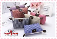 UK Stripe Cosmetic Makeup Purse Wash Bag Organizer Pouch Pencil CaseToiletry