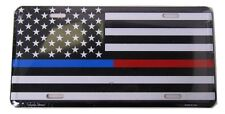 "USA Police First Responder Fire Dept Red Blue Line 6""x12"" License Plate Made USA"