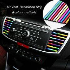10 Car Air Conditioner Outlet Vent Grille Decor U Shape Molding Trim Strip Kit L