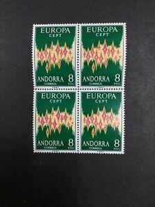 MOMEN: ANDORRA CEPT 1972 BLOCK MINT OG NH LOT #10595