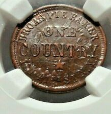"""REALLY CLASHED ! - NY'S """" BROAS PIE BAKERS  """" - 630L - 17a - NGC MS - 64 - NR"""